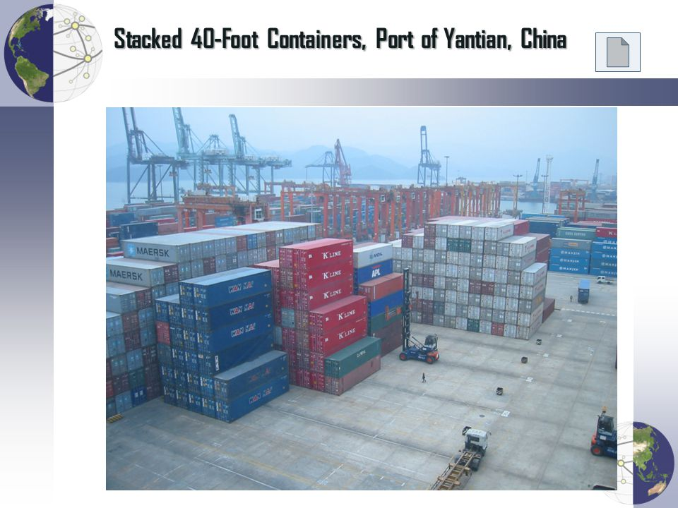 Stacked 40-Foot Containers, Port of Yantian, China