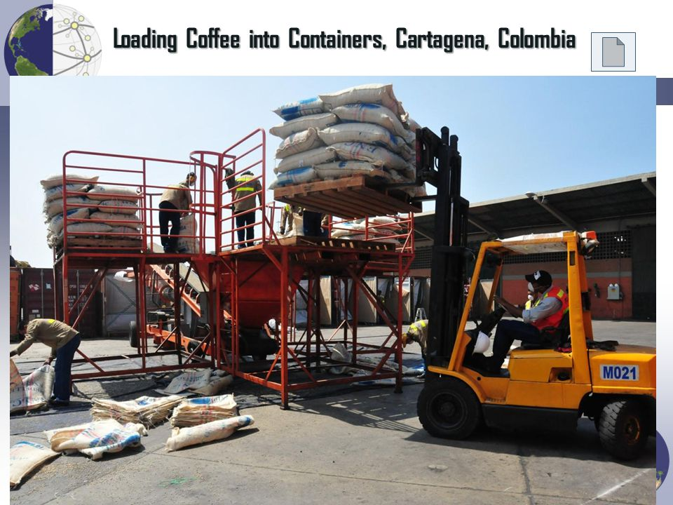 Loading Coffee into Containers, Cartagena, Colombia