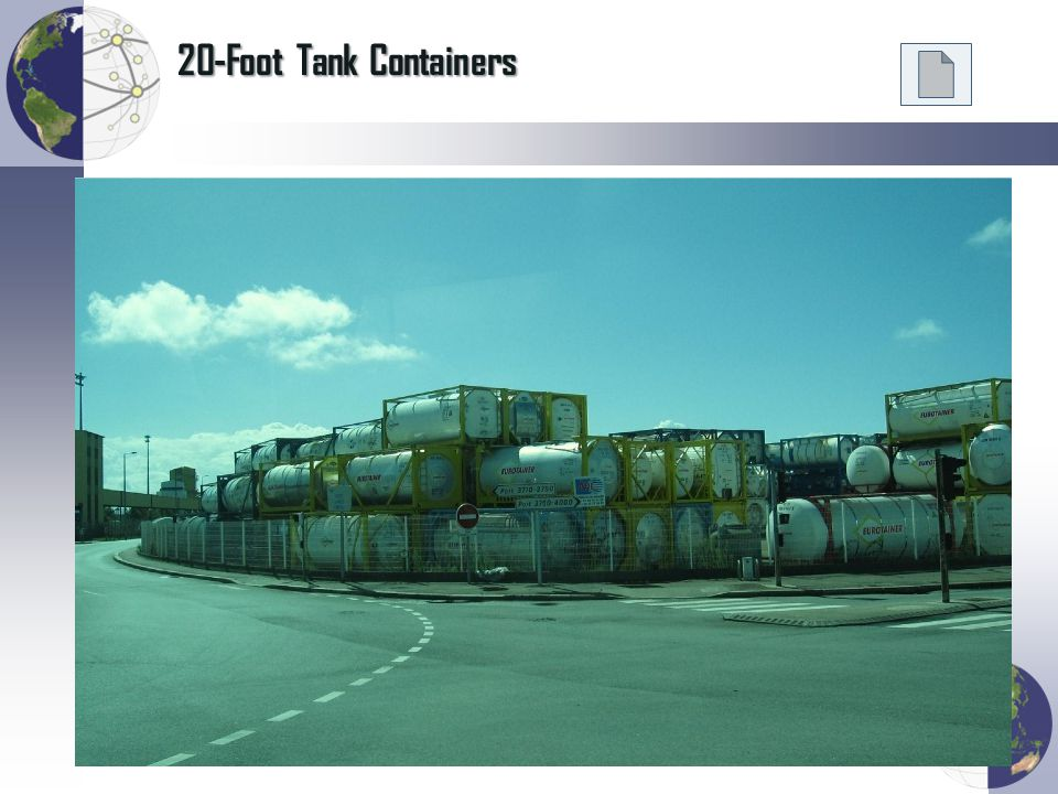 20-Foot Tank Containers Photo: Dr. Jean-Paul Rodrigue, 2010