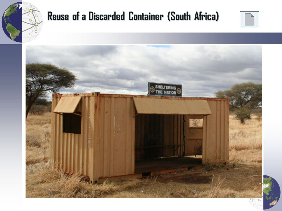 Reuse of a Discarded Container (South Africa)
