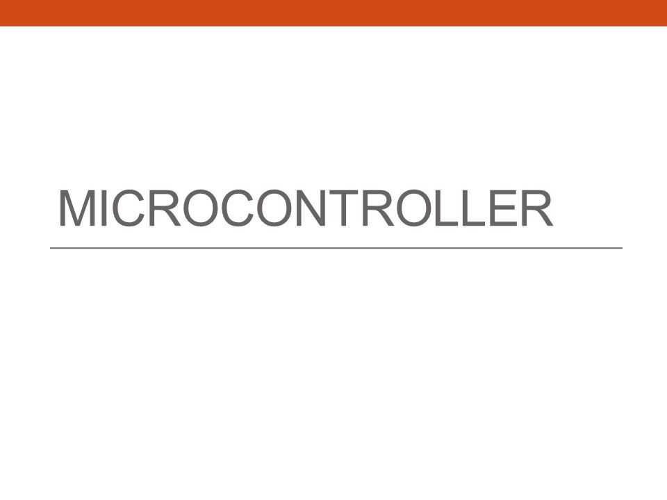 Microcontroller Once the information is on the ADC, it's the MCU job to process that information