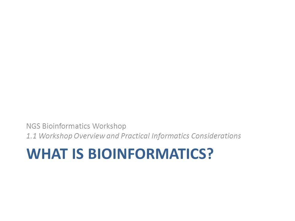 What is bioinformatics