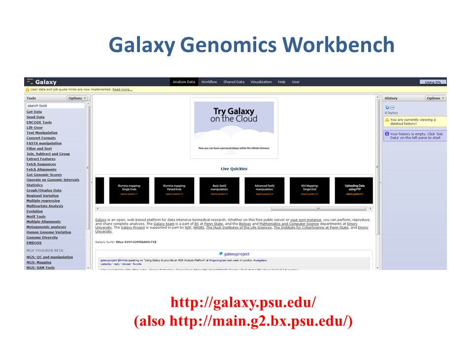Galaxy Genomics Workbench