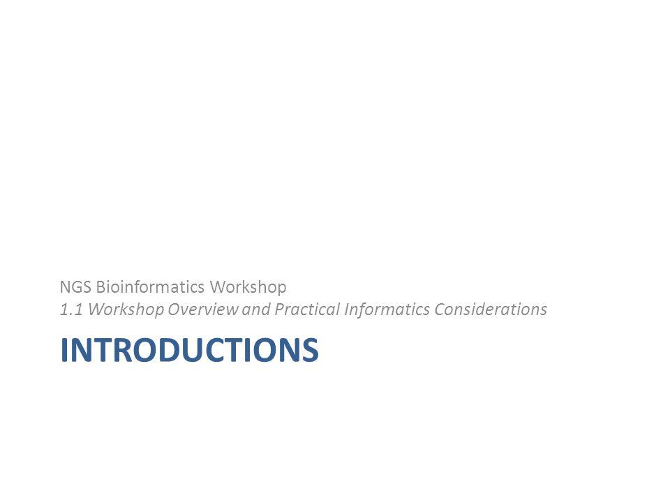NGS Bioinformatics Workshop 1