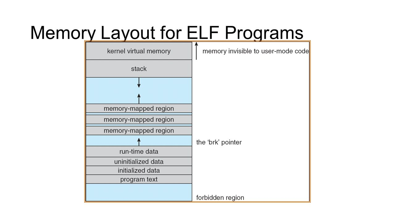 Memory Layout for ELF Programs