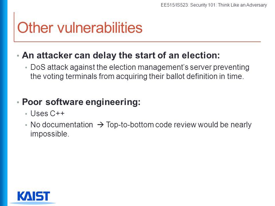 Other vulnerabilities