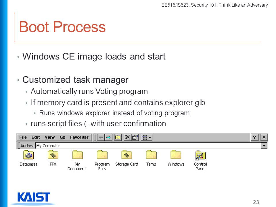 Boot Process Windows CE image loads and start Customized task manager