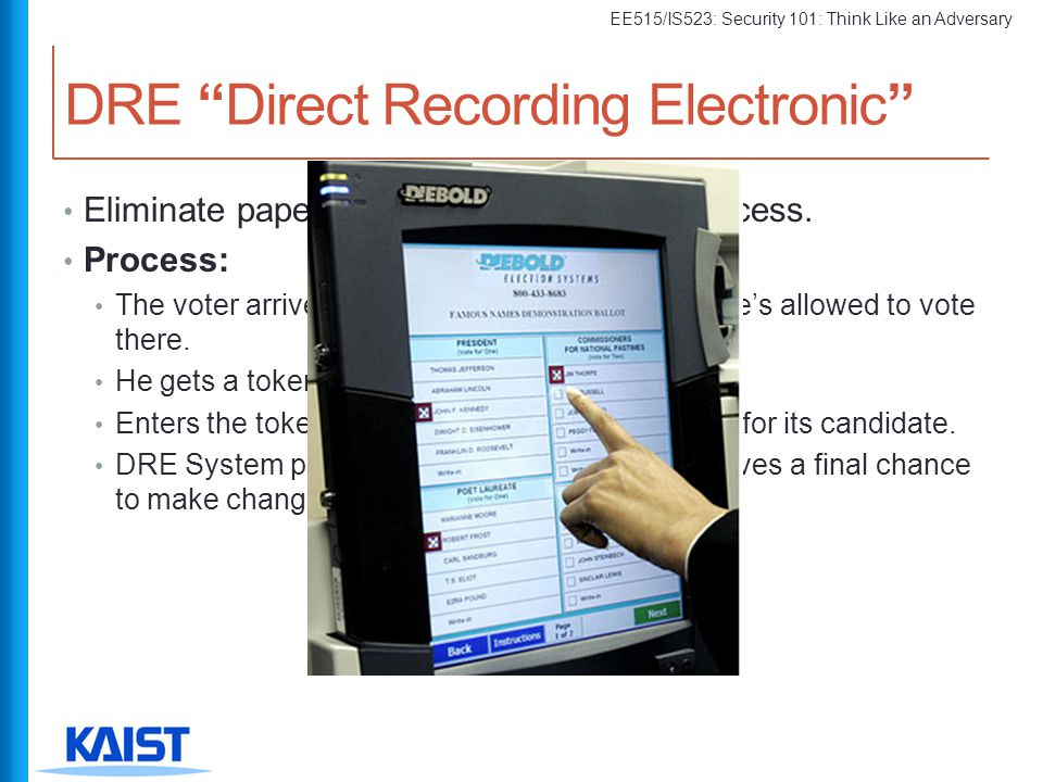 DRE Direct Recording Electronic