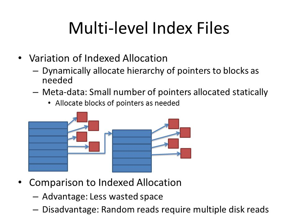 Multi-level Index Files