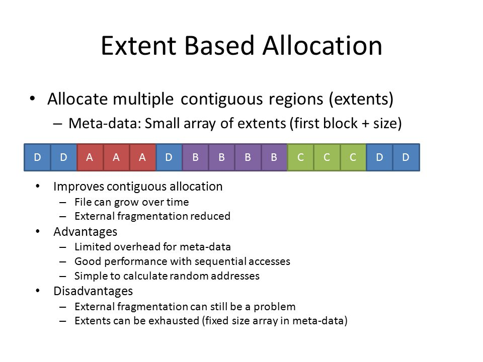Extent Based Allocation