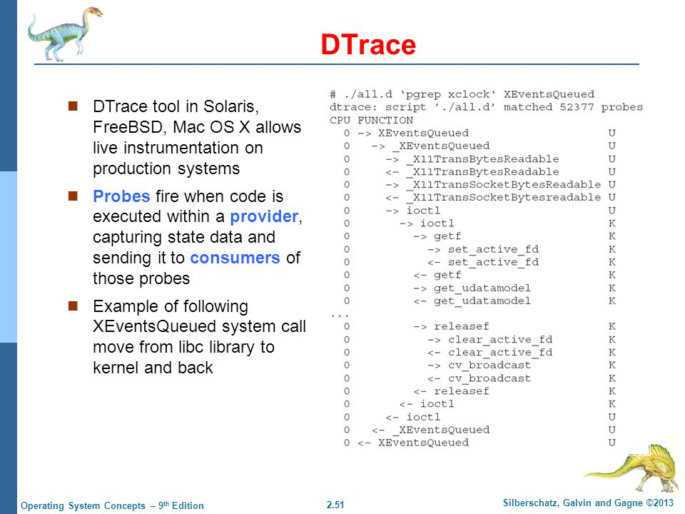 DTrace DTrace tool in Solaris, FreeBSD, Mac OS X allows live instrumentation on production systems.