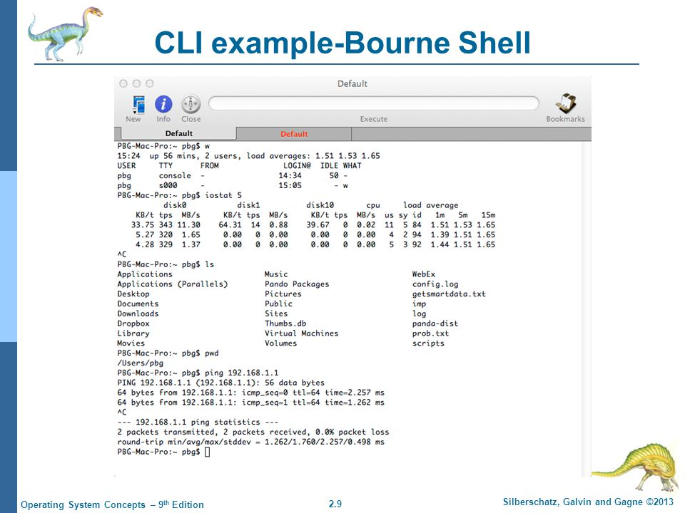 CLI example-Bourne Shell