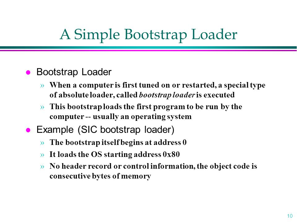 A Simple Bootstrap Loader