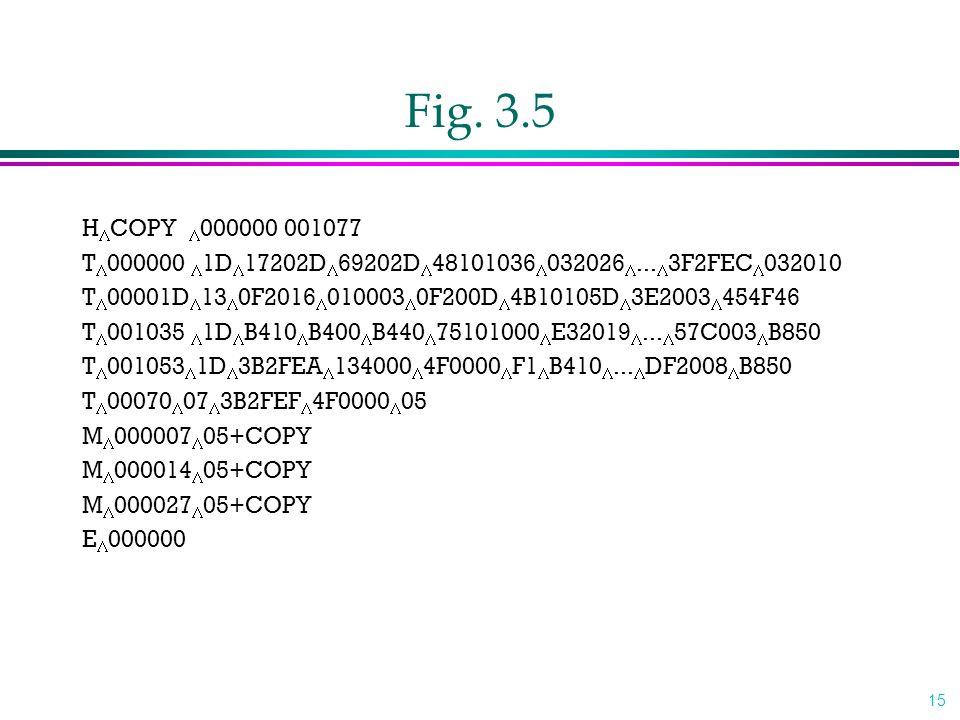 Fig. 3.5 HCOPY 000000 001077. T000000 1D17202D69202D48101036032026...3F2FEC032010.