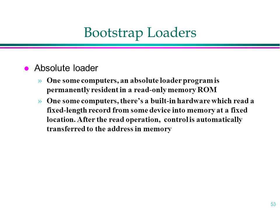 Bootstrap Loaders Absolute loader
