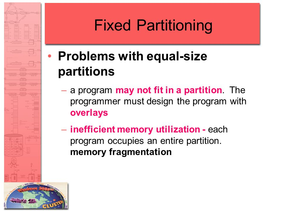 Fixed Partitioning Problems with equal-size partitions