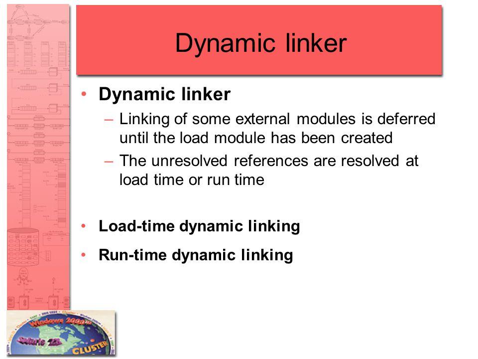 Dynamic linker Dynamic linker