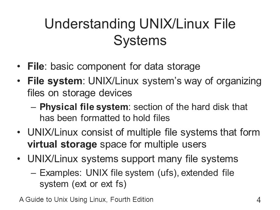 Understanding UNIX/Linux File Systems