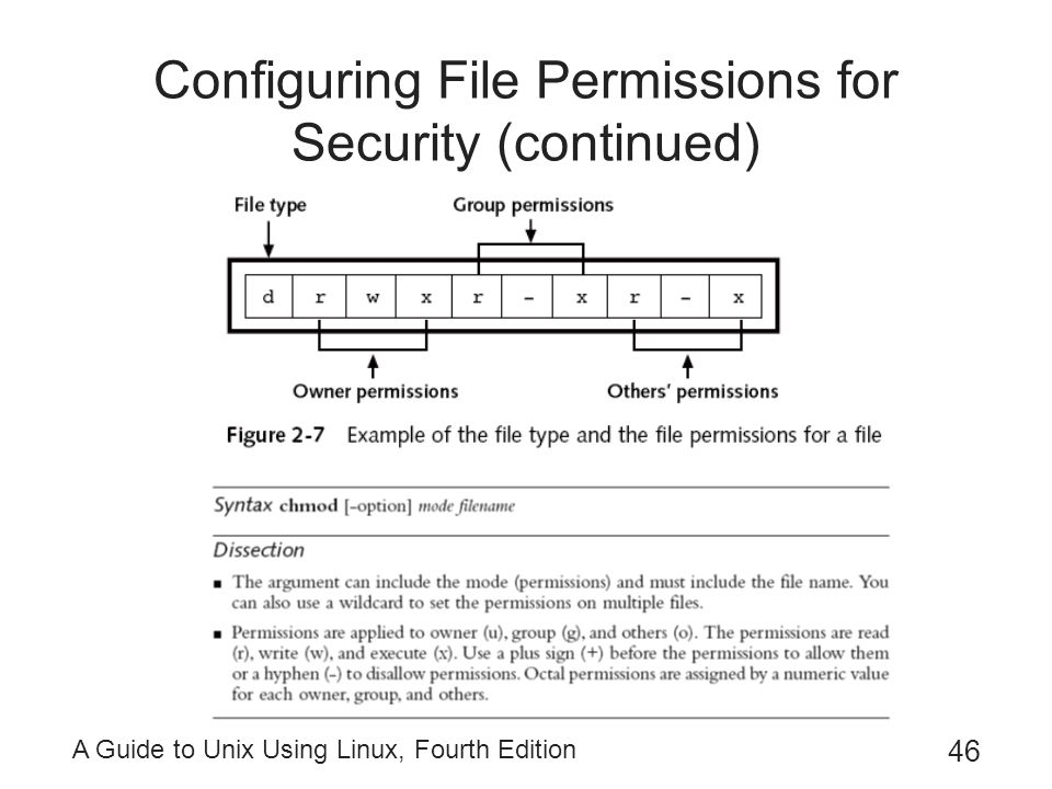 Configuring File Permissions for Security (continued)