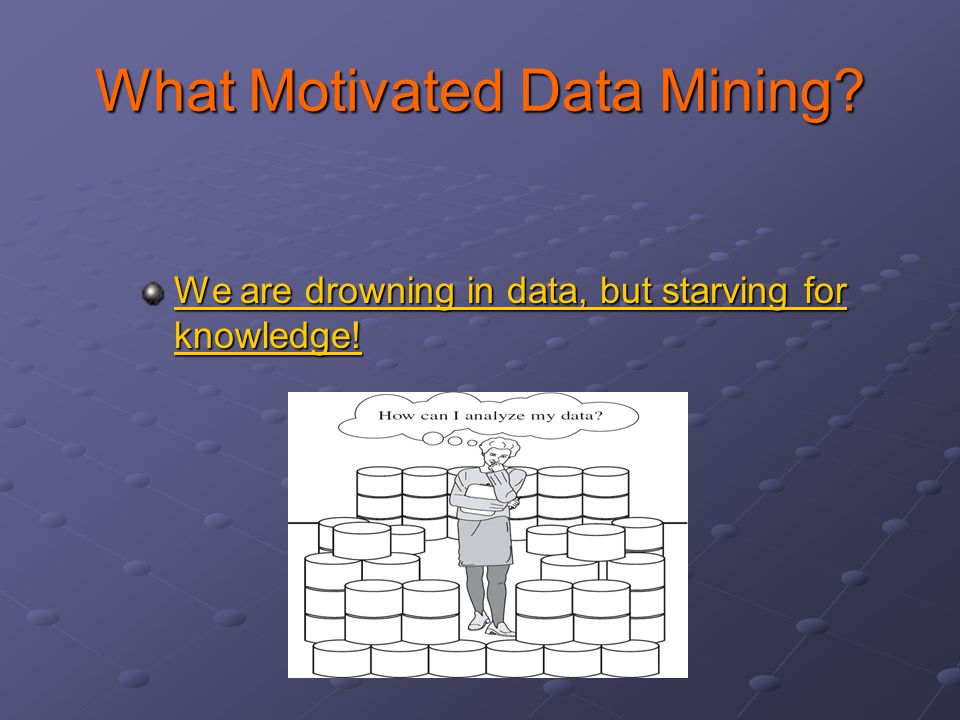 What Motivated Data Mining