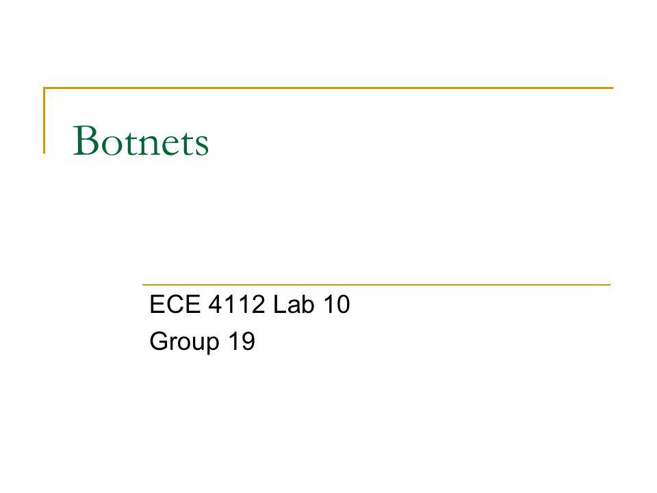 Botnets ECE 4112 Lab 10 Group 19