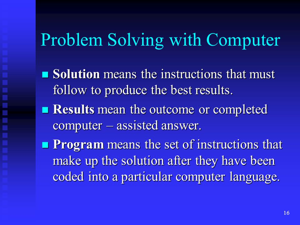 Problem Solving with Computer