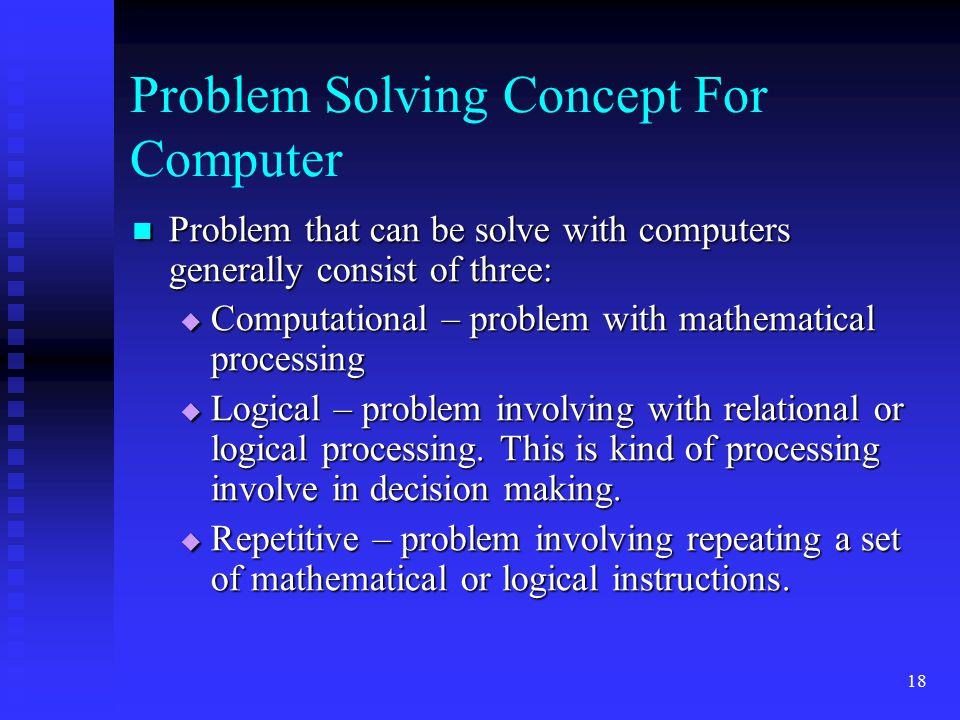 Problem Solving Concept For Computer