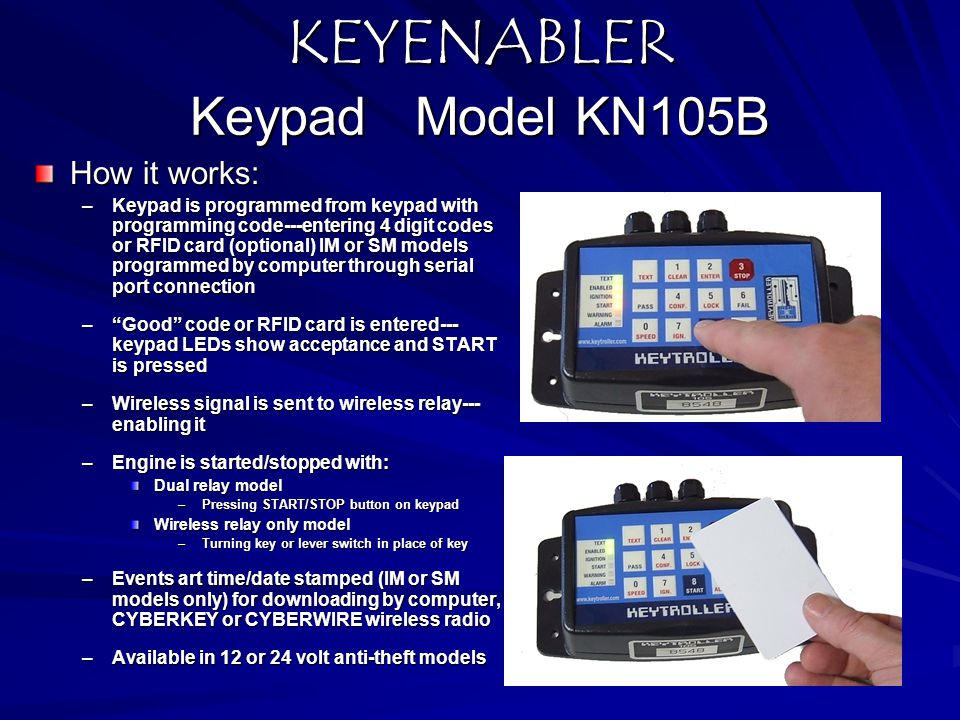 KEYENABLER Keypad Model KN105B