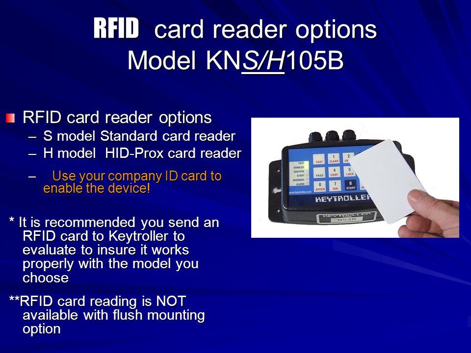 RFID card reader options Model KNS/H105B
