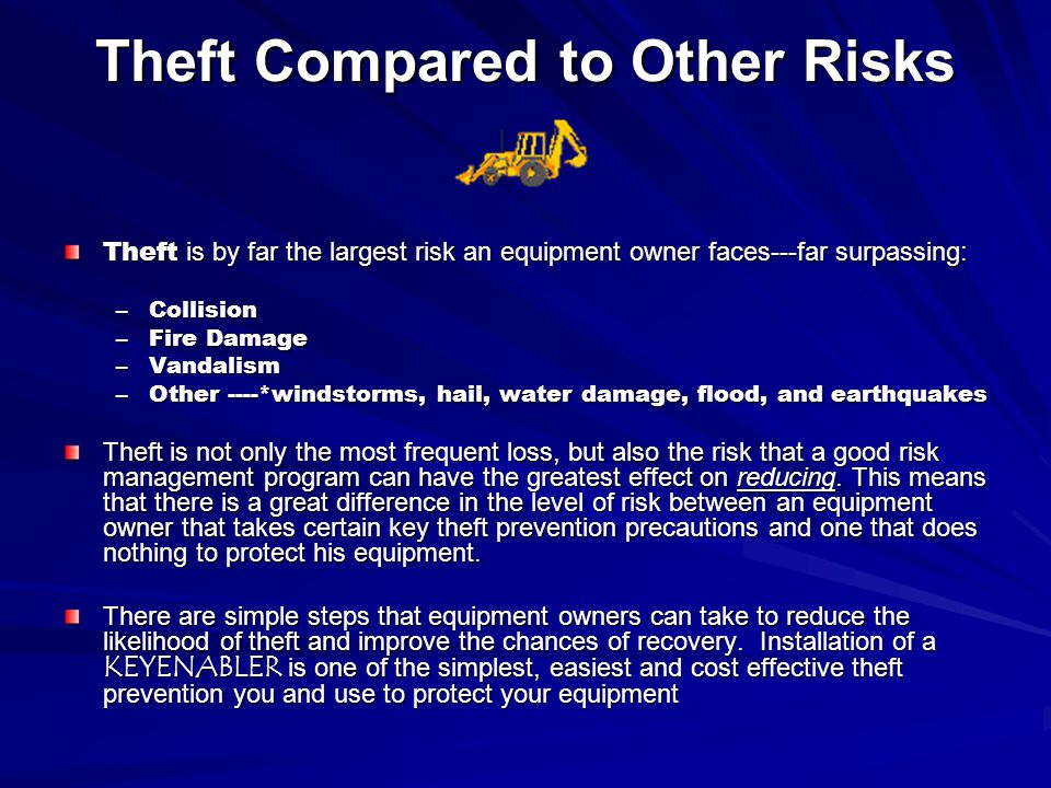 Theft Compared to Other Risks