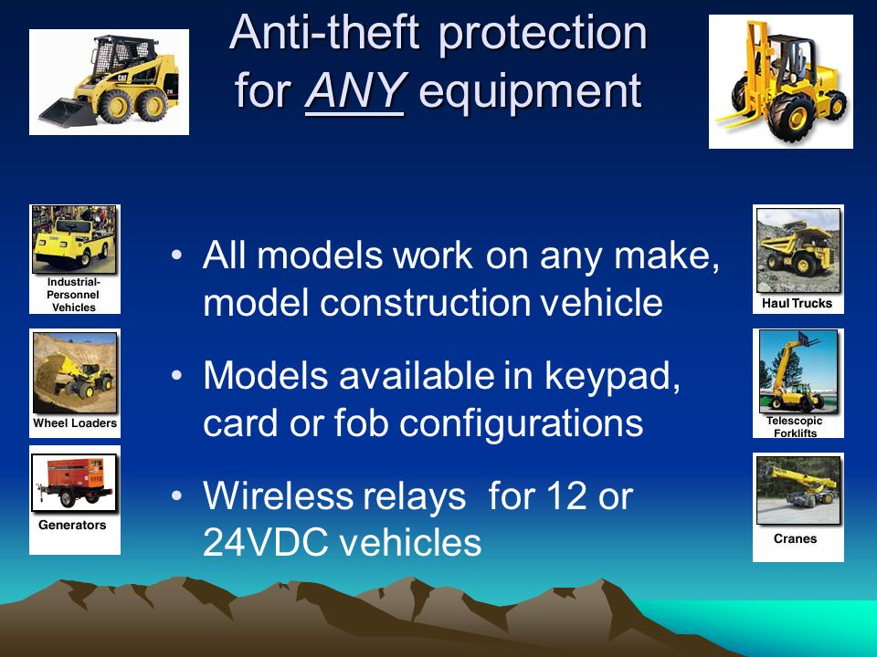 Anti-theft protection for ANY equipment