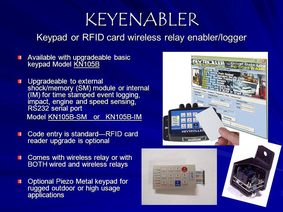 KEYENABLER Keypad or RFID card wireless relay enabler/logger