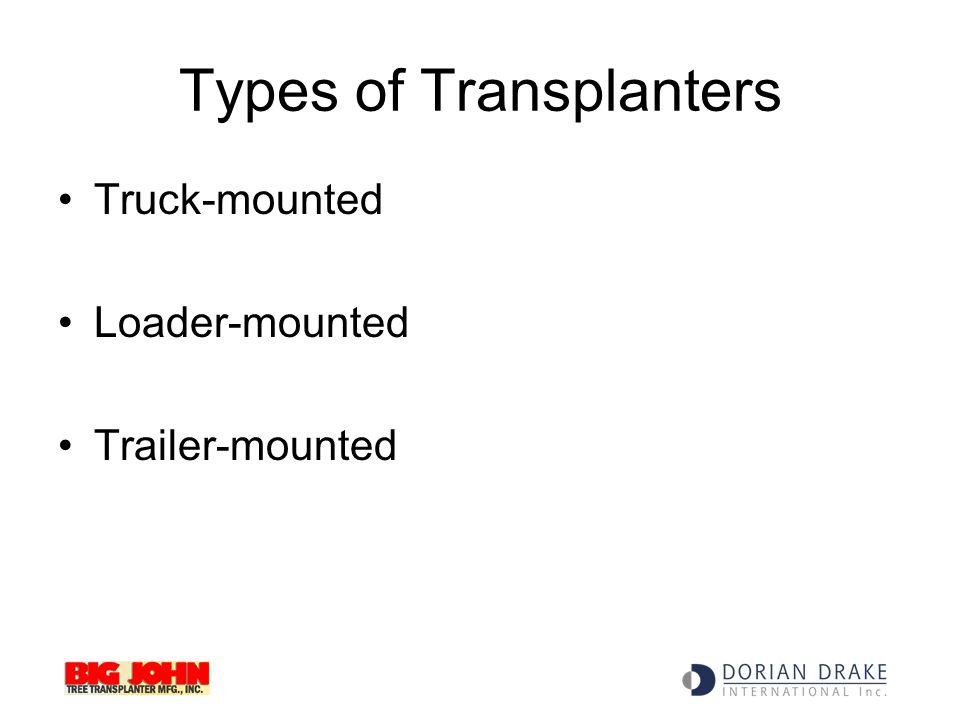 Types of Transplanters