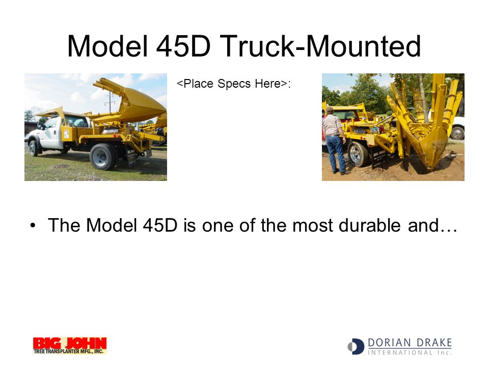 Model 45D Truck-Mounted The Model 45D is one of the most durable and…