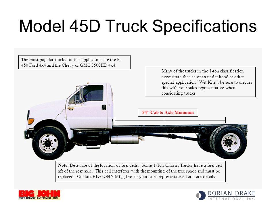 Model 45D Truck Specifications