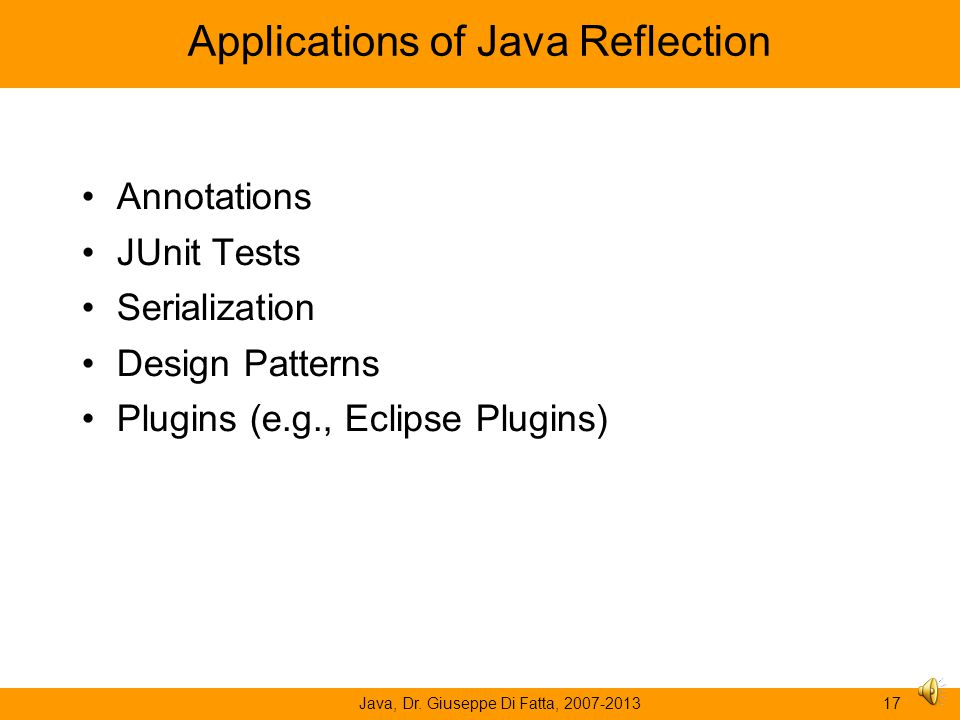Applications of Java Reflection