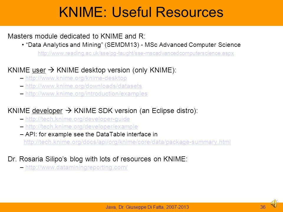 KNIME: Useful Resources