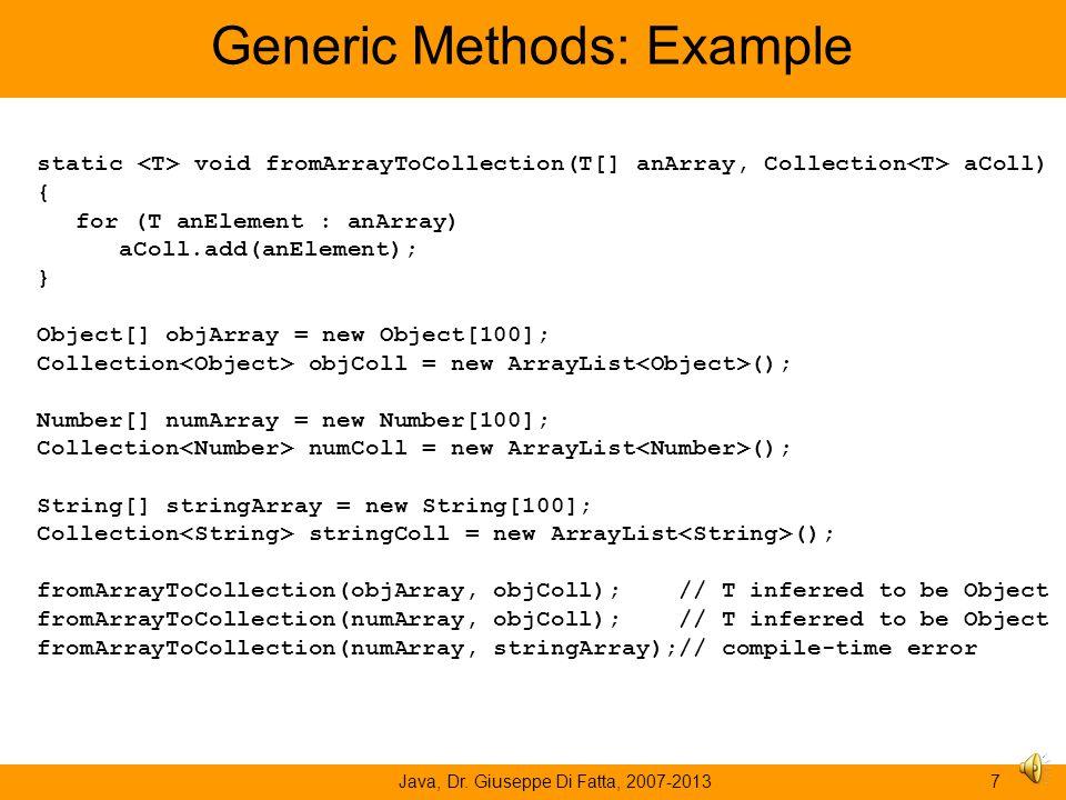 Generic Methods: Example