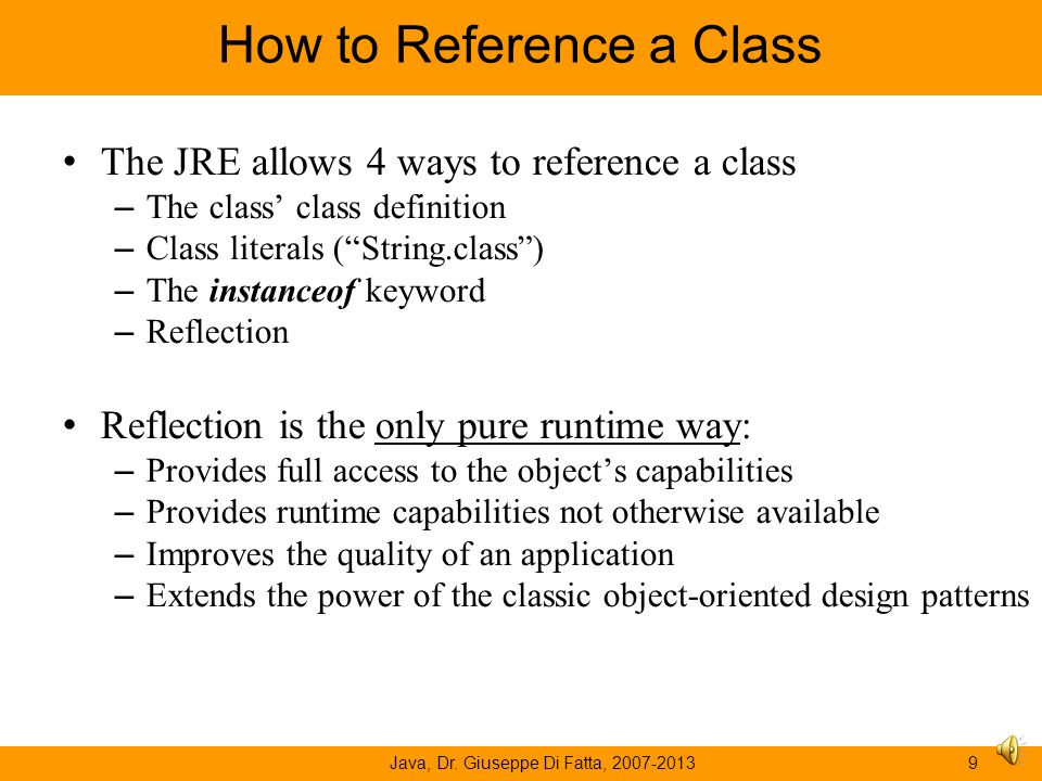 How to Reference a Class