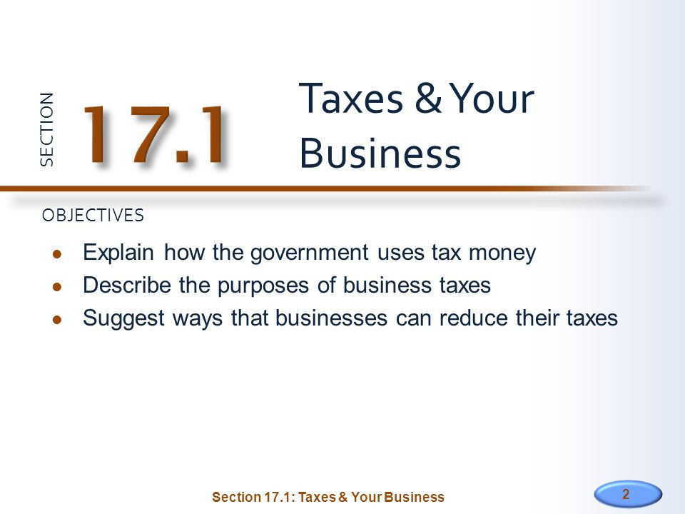 Section 17.1: Taxes & Your Business