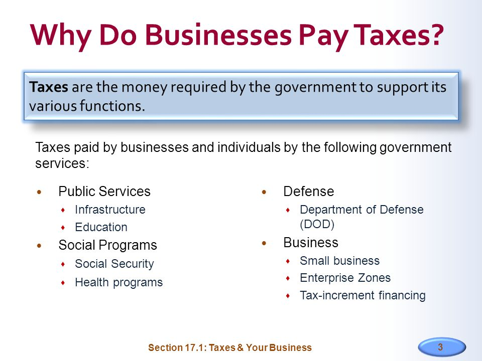 Why Do Businesses Pay Taxes