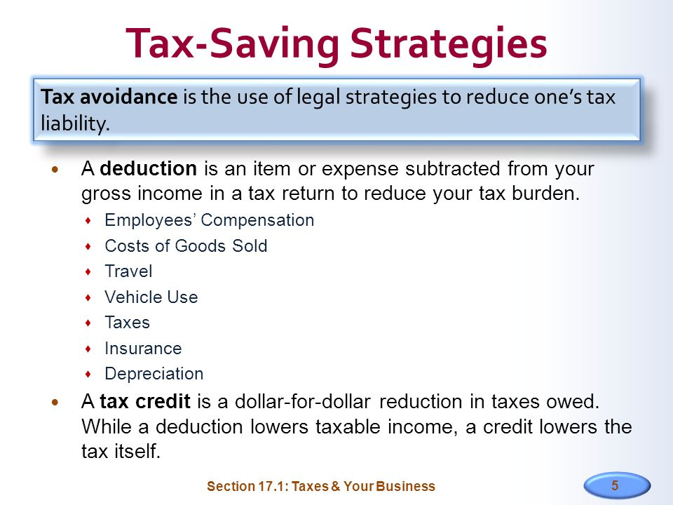 Tax-Saving Strategies