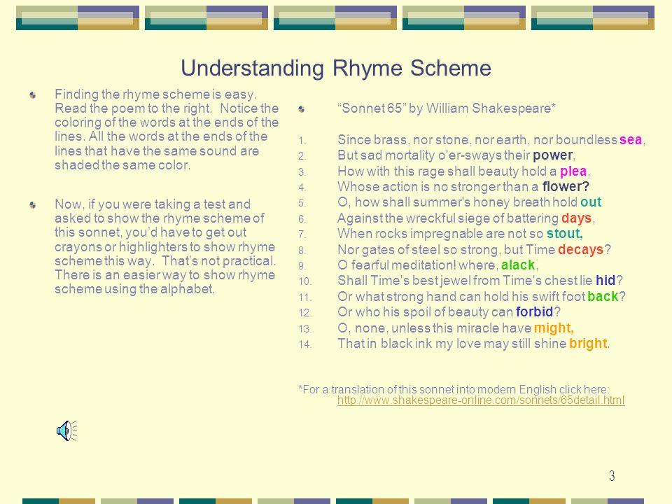 Understanding Rhyme Scheme