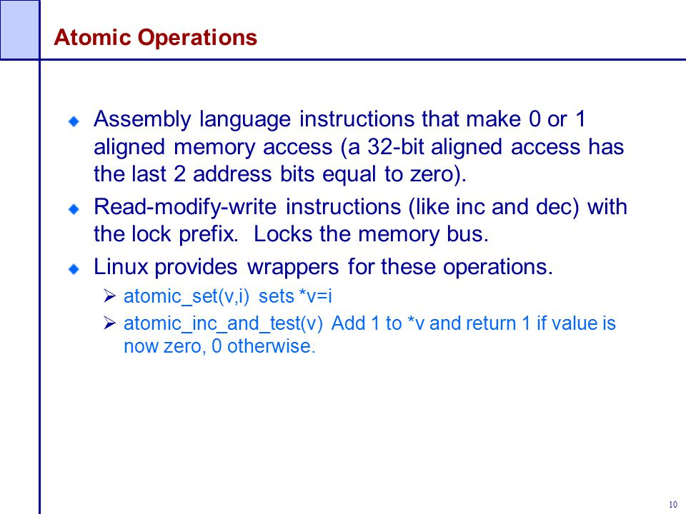 Linux provides wrappers for these operations.