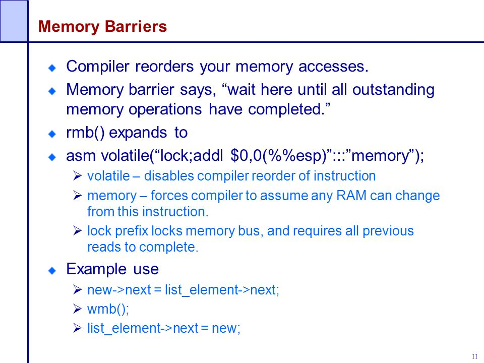 Compiler reorders your memory accesses.