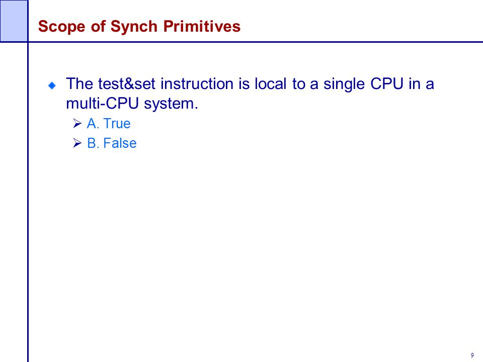 Scope of Synch Primitives