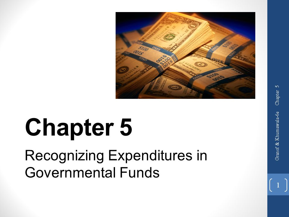 Recognizing Expenditures in Governmental Funds