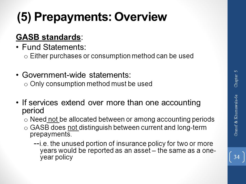 (5) Prepayments: Overview