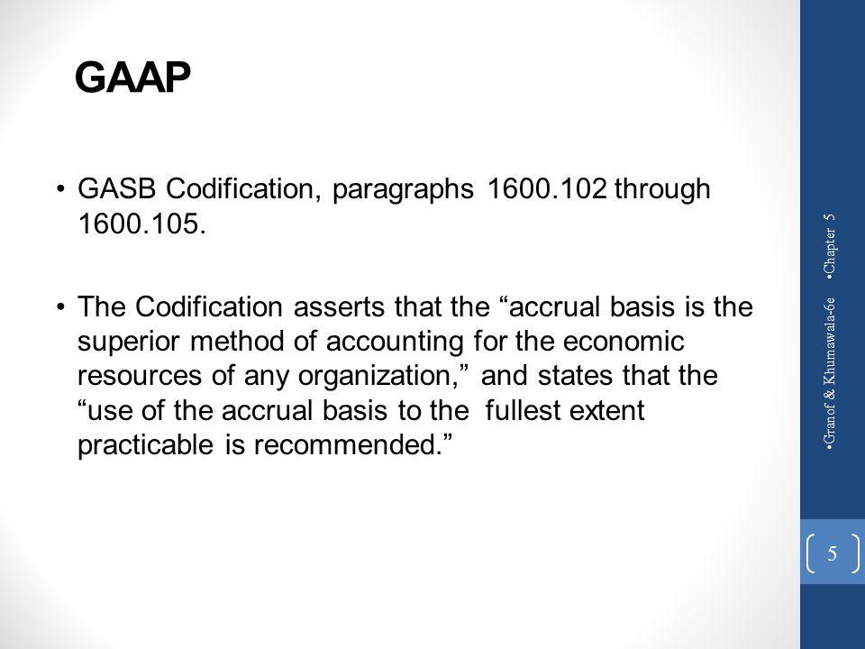 GAAP GASB Codification, paragraphs 1600.102 through 1600.105.