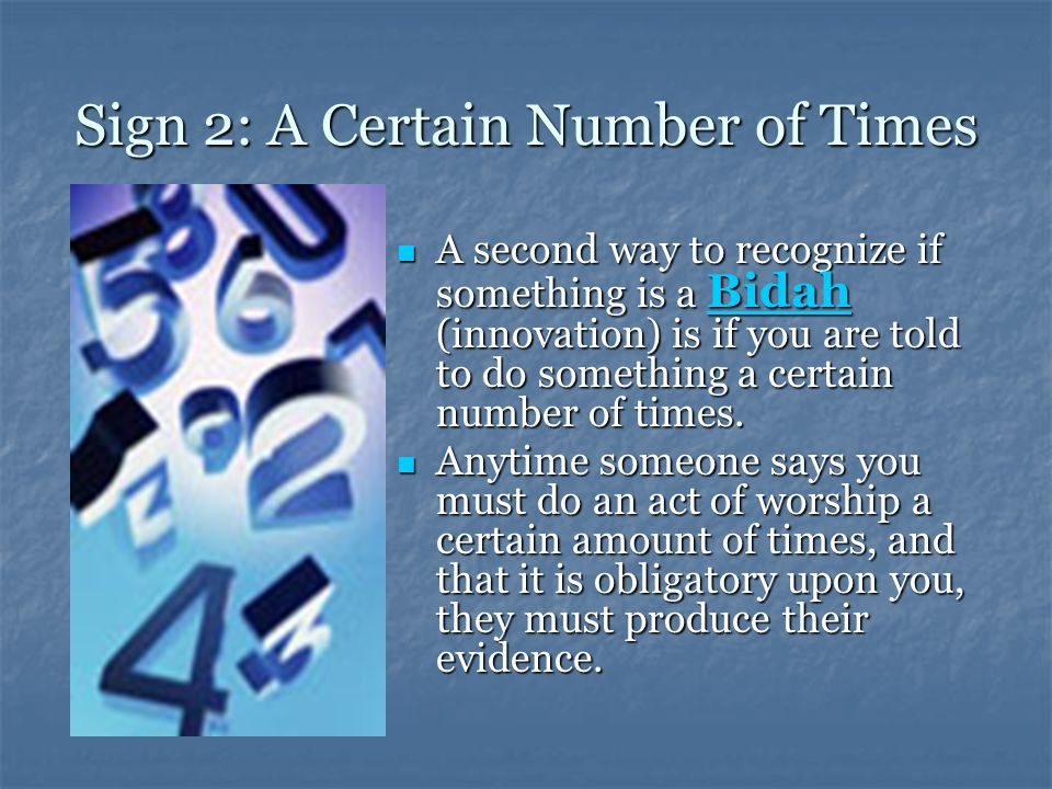 Sign 2: A Certain Number of Times